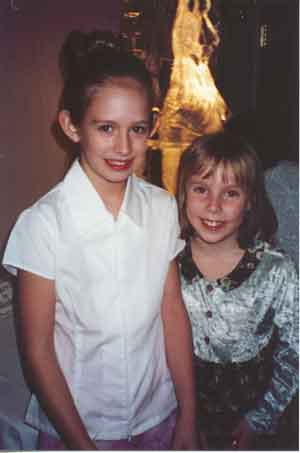 Sarah and her cousin, Jeanine Hurley at the 2001 Hampton PTA Father-Daughter Dance