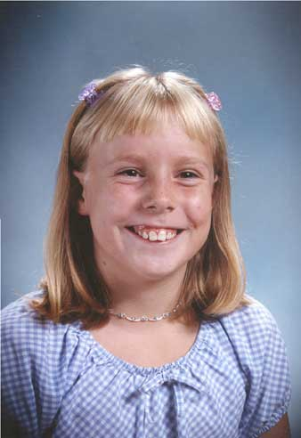 Sarah's Fourth Grade picture.
